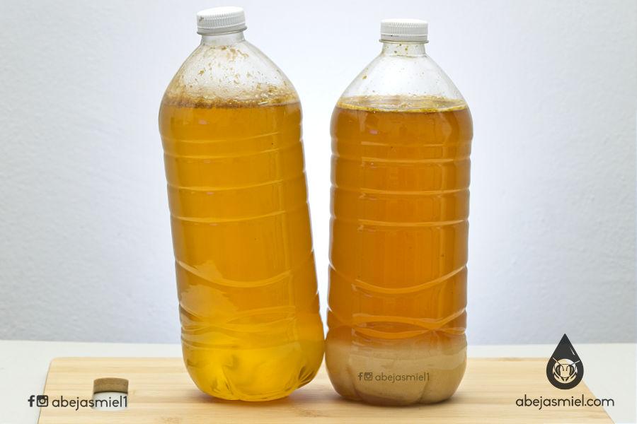 Miel de melipona madura y cristalizada
